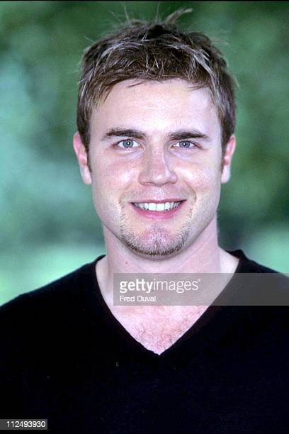 Gary Barlow during Party in the Park Line Up Announcements June 1 1999 at Hyde Park in London Great Britain