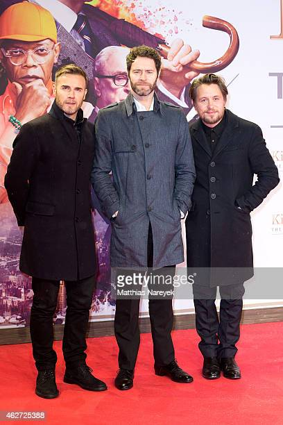 Gary Barlow Howard Donald and Mark Owen attend the `Kingsman The Secret Service' German Premiere at CineStar on February 3 2015 in Berlin Germany