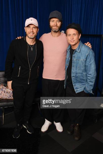Gary Barlow Howard Donald and Mark Owen of Take That at the opening night of Wonderland Live 2017 at Genting Arena on May 5 2017 in Birmingham United...