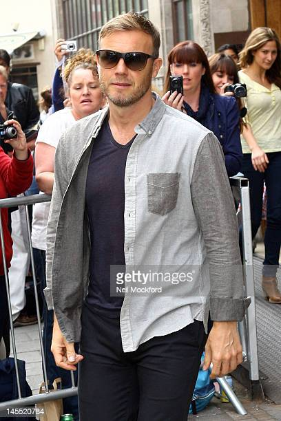 Gary Barlow is seen at BBC Radio One on June 1 2012 in London England