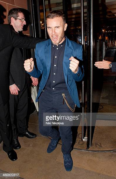 Gary Barlow is seen leaving Cipriani restaurant Mayfair on November 17 2013 in London England