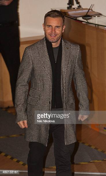 Gary Barlow is seen leaving Fountain Studios after filming 'The X Factor on November 16 2013 in London England