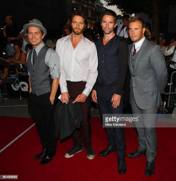 Gary Barlow Jason Orange Howard Donald and Mark Owen of Take That arrive for the 2009 GQ Men Of The Year Awards at The Royal Opera House on September...