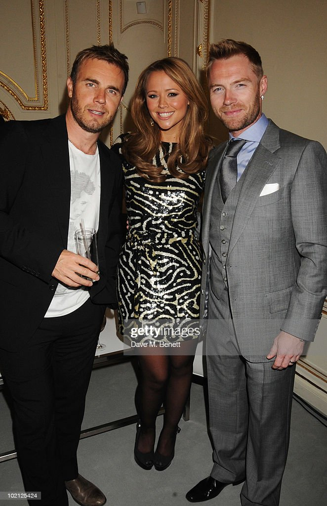 Gary Barlow, Kimberley Walsh, and Ronan Keating attend the Lucian Grainge VIP Party on June 15, 2010 in London, England.