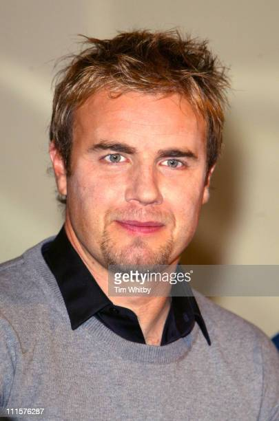 Gary Barlow of Take That during Take That Press Conference - November 25, 2005 at The Berkley Hotel in London, Great Britain.