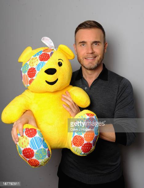 Gary Barlow poses backstage during the 'BBC Children In Need Rocks' at Eventim on November 12 2013 in London England BBC Children In Need Rocks...