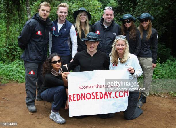 Gary Barlow Ronan Keating Fearne Cotton Chris Moyles Cheryl Cole Kimberley Walsh Alesha Dixon Ben Shephard and Denise Van Outen pose for a photograph...