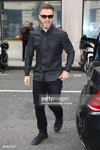 Gary Barlow seen arriving at BBC Radio 2 on October 16 2015 in London England