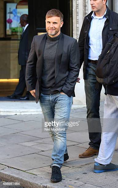 Gary Barlow seen at a radio station on October 10 2014 in London England