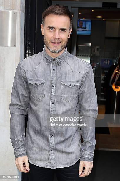 Gary Barlow seen at BBC Radio 2 on February 2 2016 in London England