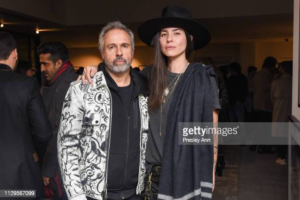 Gary Baseman and Tasya van Ree attend Oliver Peoples x Tasya van Ree Celebrates Who is Oliver Exhibition at LECLAIREUR on February 13 2019 in Los...
