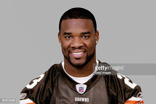 Gary Baxter of the Cleveland Browns poses for his 2008 NFL headshot at photo day in Cleveland Ohio
