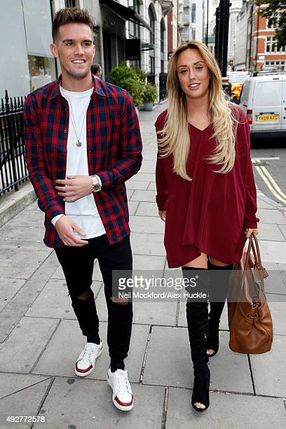 Gary Beadle and Charlotte Crosby seen leaving the Heat Radio Studios on October 15 2015 in London England Photo by Neil Mockford/Alex Huckle/GC Images