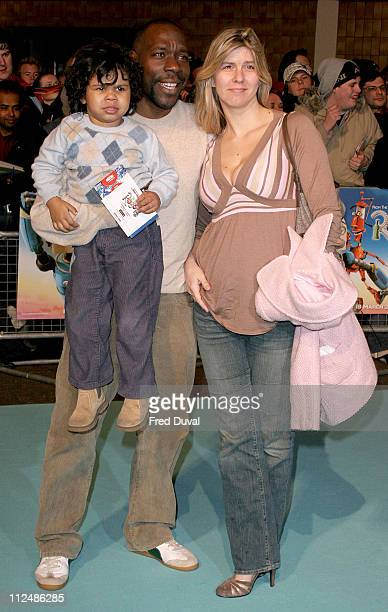 Gary Beadle and family during Robots London Premiere at Vue Cinema in London Great Britain