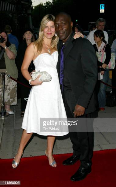 Gary Beadle and guest during 2004 Screen Nation Film Television Awards at Sheraton Park Lane Hotel in London Great Britain
