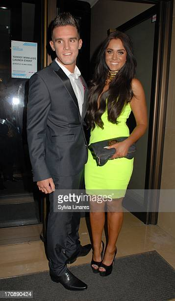 Gary Beadle and Vicky Pattison sighting at May Fair Hotel on June 19 2013 in London England