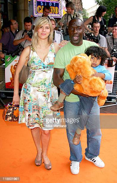 Gary Beadle during The UK Charity Premiere Of Garfield the Movie Arrivals at Liecester Square Vue Cinema in London Great Britain