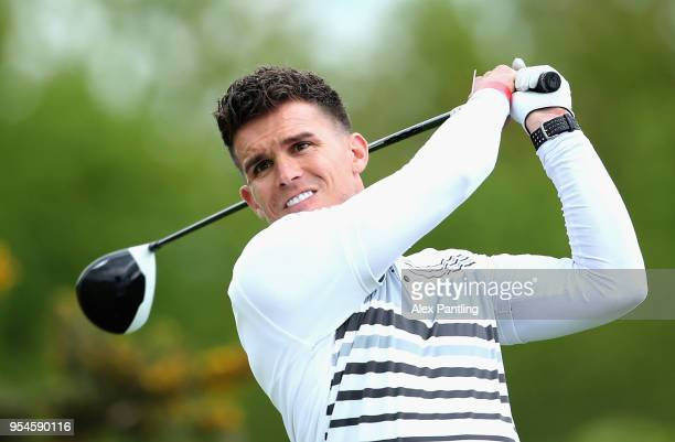 Gary Beadle tees off on the 3rd during the Pro Am event prior to the start of GolfSixes at The Centurion Club on May 4 2018 in St Albans England
