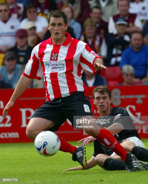 Gary Birch of Lincoln City in action during the Coca Cola League Two match between Lincoln City and Northampton Town held at Sincil Bank on August 6...