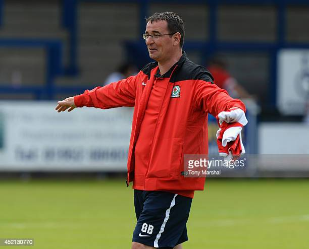 Gary Bowyer Manager of Blackburn Rovers during the Pre Season Friendly match between AFC Telford United v Blackburn Rovers at New Bucks Head Stadium...