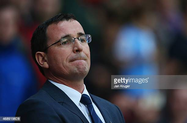 Gary Bowyer manager of Blackburn Rovers looks on prior to the FA Cup Quarter Final Replay match between Blackburn Rovers and Liverpool at Ewood Park...