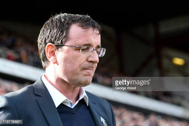 Gary Bowyer manager of Bradford City looks on during the Sky Bet League One match between Bradford City and Blackpool at Northern Commercials Stadium...