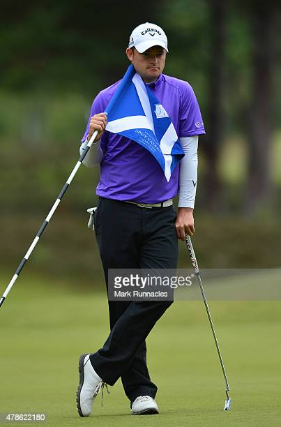 Gary Boyd of England in action during the second round of the 2015 SSE Scottish Hydro Challenge at the MacDonald Spey Valley Championship Golf Course...