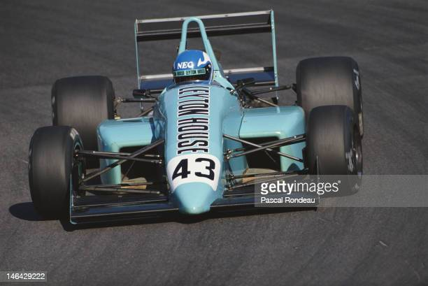 Gary Brabham of Australia drives the Leyton House Racing March 89B Judd during the FIA International F3000 Championship race on 20th August 1989 at...