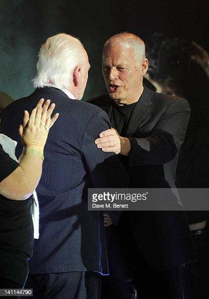 Gary Brooker and David Gilmour attend Douglas Adams The Party celebrating what would have been the author's 60th birthday at the HMV Hammersmith...