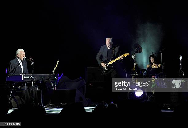 Gary Brooker and David Gilmour perform at Douglas Adams The Party celebrating what would have been the author's 60th birthday at the HMV Hammersmith...