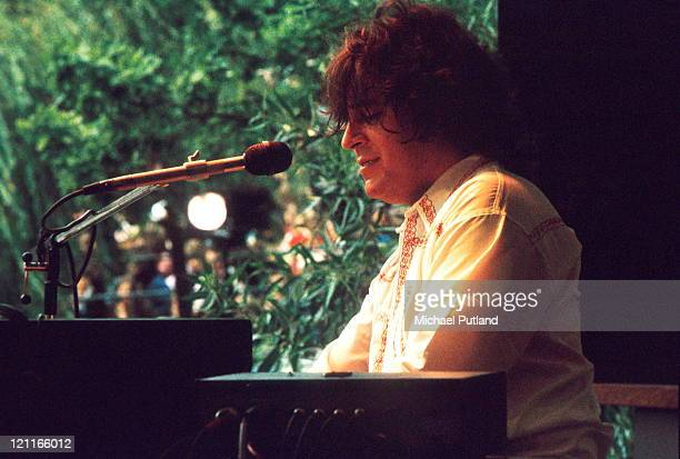 Gary Brooker of Procol Harum performs on stage at Crystal Palace London 27th July 1974