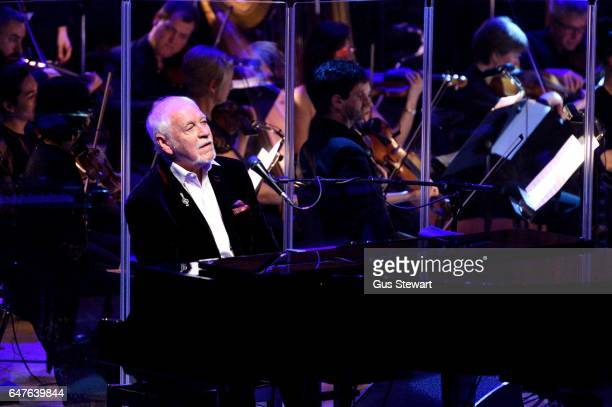 Gary Brooker of Procol Harum performs on stage at the 50th Anniversary of 'A Whiter Shade Of Pale' at The Royal Festival Hall on March 3 in London...
