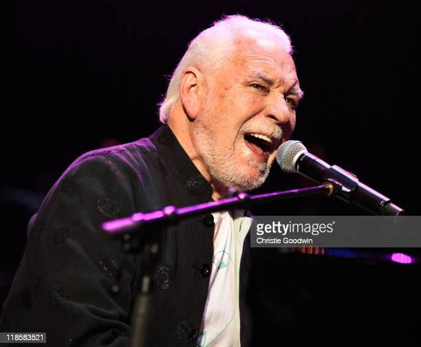Gary Brooker of Procul Harum performs on stage in aid of the Sunflower Jam charity supporting the integration of conventional and complimentary...