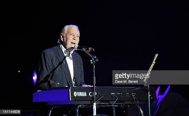 Gary Brooker performs at Douglas Adams The Party celebrating what would have been the author's 60th birthday at the HMV Hammersmith Apollo on March...