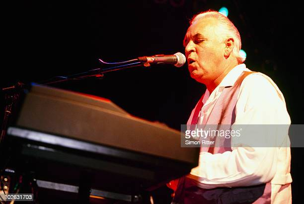 Gary Brooker performs on stage with the Rhythm Kings in 1997