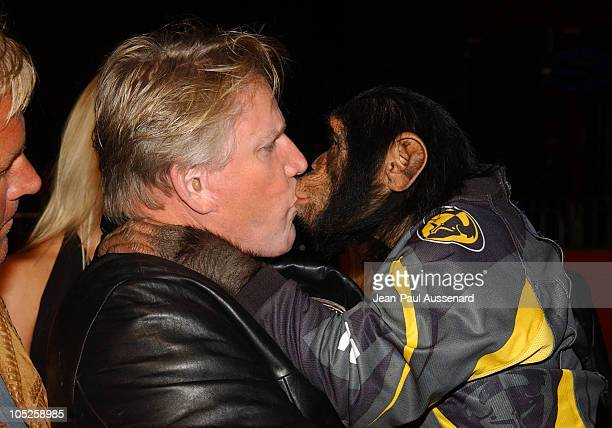 Gary Busey and Cody during Motocross Kids Premiere at Universal City Walk in Universal City California United States