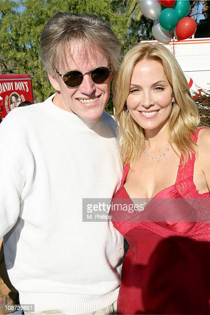 Gary Busey and Eloise DeJoria during Snowy Christmas Eve in Malibu December 24 2005 at Private Residence in Malibu CA United States