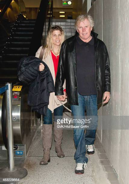 Gary Busey and his wife Steffanie Busey are seen at Los Angeles International Airport on February 04 2012 in Los Angeles California