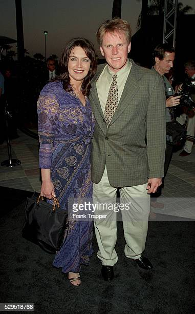 Gary Busey and his wife Tiani arrive