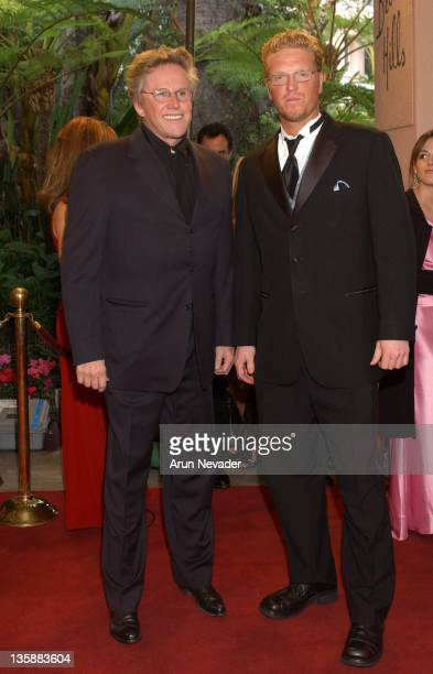 Gary Busey and Jake Busey during The 14th Annual Night of 100 Stars Oscar Gala at Beverly Hills Hotel in Beverly Hills California United States