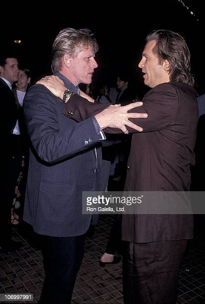 Gary Busey and Jeff Bridges during 'The Vanishing' Screening in Westwood Febuary 4 1993 at AVCO Theater in Westwood California United States