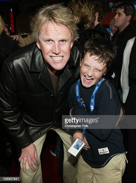 Gary Busey and Josh Hutcherson during 'Motocross Kids' Premiere at Loew's Universal CityWalk in Universal City California United States