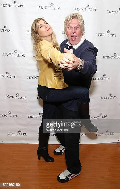 Gary Busey and wife Steffanie Sampson attend lunch with Gary Busey as he joins the cast Of Perfect at The Theater Center on November 10 2016 in New...