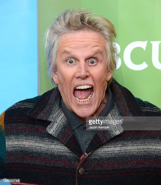 Gary Busey attends NBCUniversal's '2013 Winter TCA Tour' Day 1 at Langham Hotel on January 6 2013 in Pasadena California