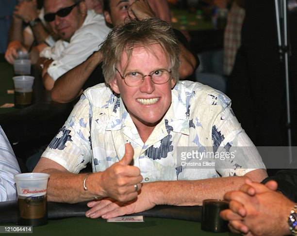 Gary Busey during Celebrity ProAm Poker Tournament at the Hard Rock Hotel and Casino at Hard Rock Hotel and Casino in Las Vegas Nevada United States