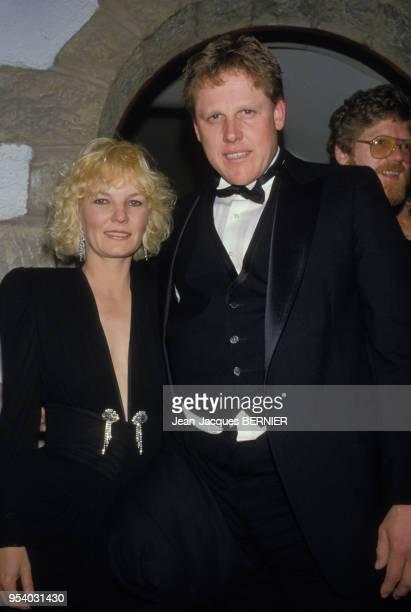 Gary Busey et sa femme Judy Helkenberg lors du 8ème Festival de Cannes en mai 1985 France