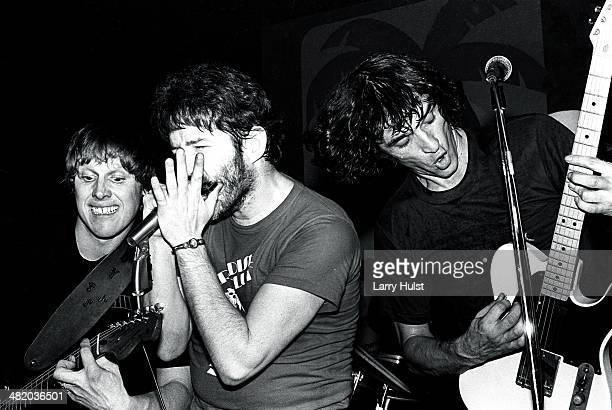 Gary Busey Paul Butterfield and Rick Danko performing at Rodeo Theater on January 01 1979 in Rodeo California Photo by Larry Hulst/Michael Ochs...