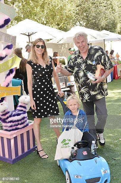 Gary Busey Steffanie Sampson and son attend Step2 Favoredby Present The 5th Annual Red Carpet Safety Awareness Event on September 24 2016 in Culver...