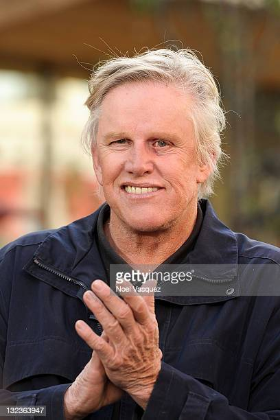 Gary Busey visits Extra at The Grove on November 11 2011 in Los Angeles California
