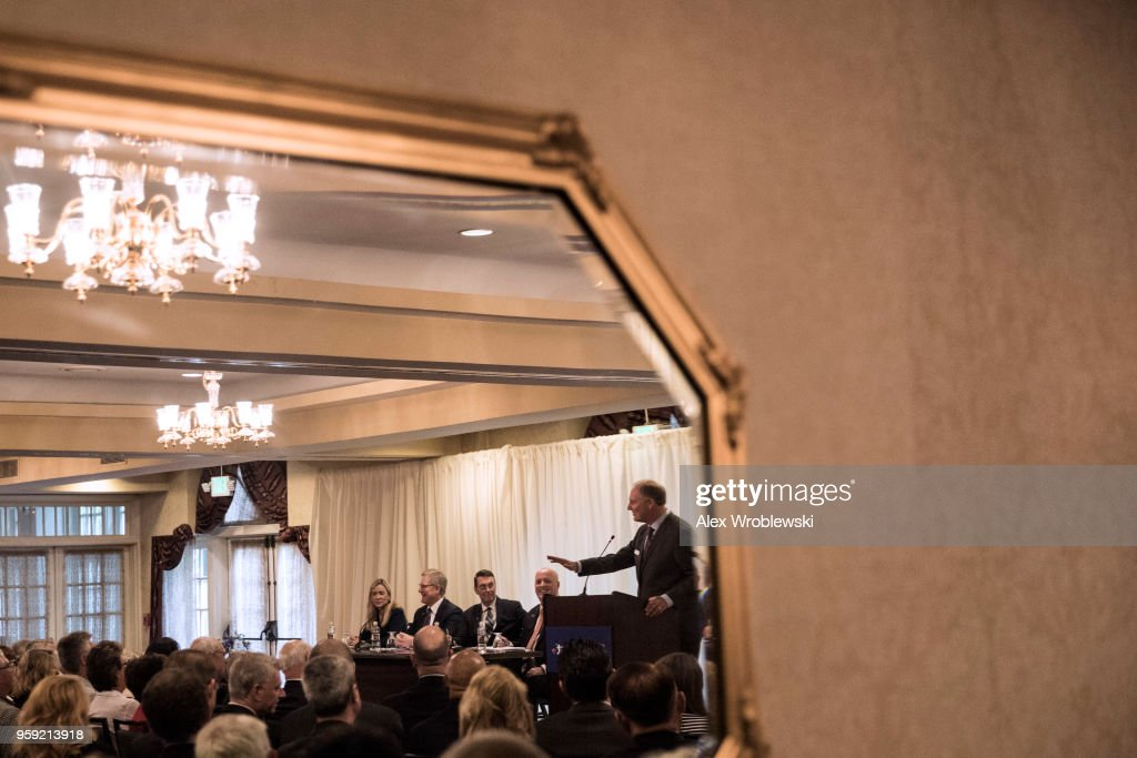 Gary C. Kelly, CEO of Southwest Airlines hosts an annual meeting of shareholders, followed by a media briefing, on May 16, 2018 in Annapolis, Maryland. On April 17 an engine on flight 1380 failed during flight, leading to the death of a passenger.